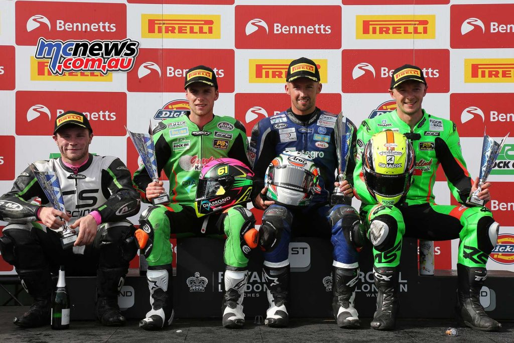 BSB RNd Knockhill Podium for supersport ImageDYeomans