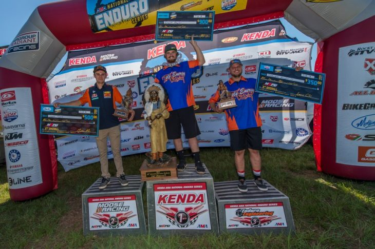 Cherokee National Enduro podium ShanMoore