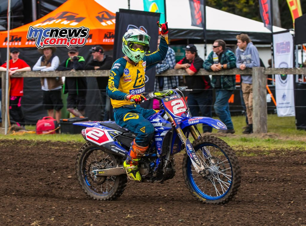 MX Nationals Rnd Conondale Wilson Todd Race TakesWin Party ImageByScottya