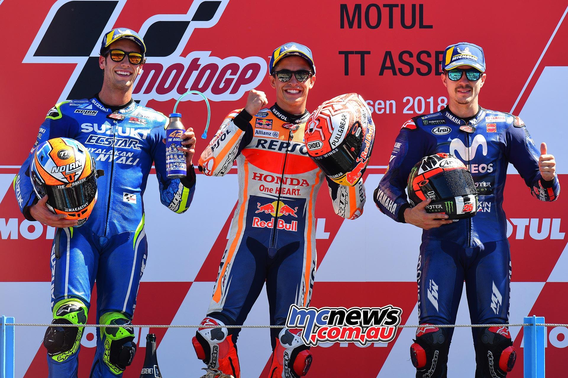 MotoGP Assen Race Marquez Podium