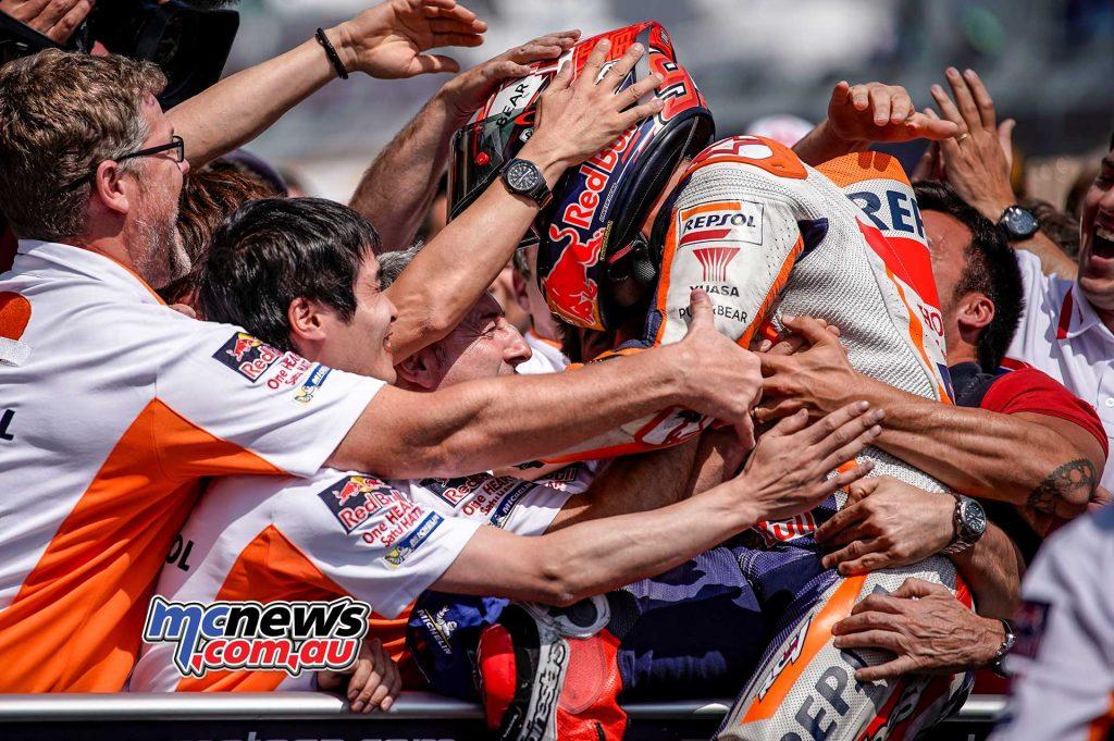 MotoGP Sachsenring Marquez Celebrate