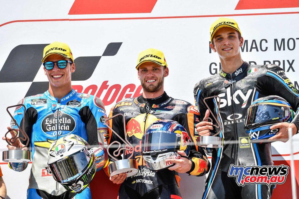 MotoGP Sachsenring Moto Podium Binder Mir Marini