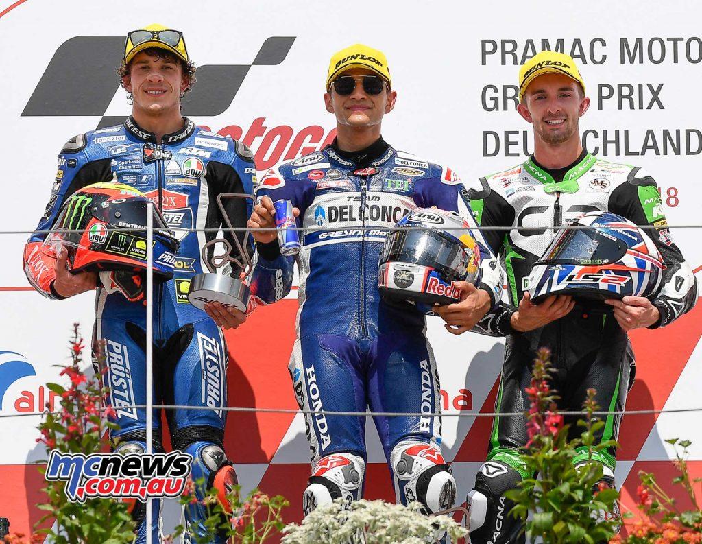 MotoGP Sachsenring Moto Podium Martin Bezzecchi McPhee