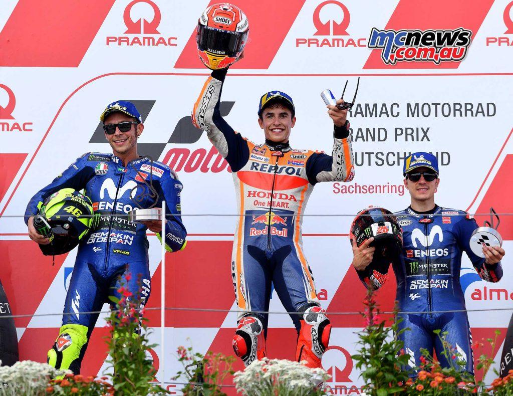 MotoGP Sachsenring Podium Marquez