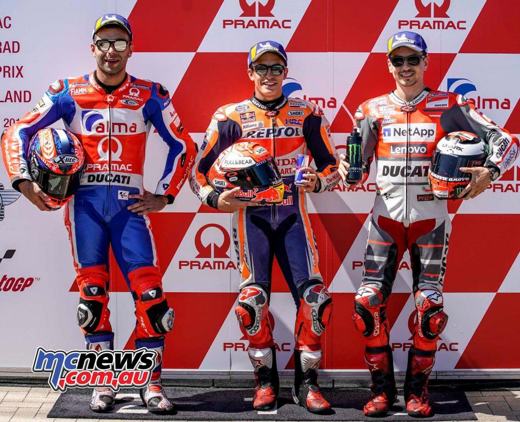 MotoGP Sachsenring QP Trio