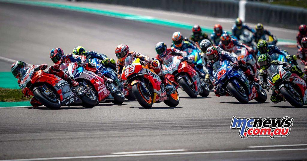 MotoGP Sachsenring Start Lorenzo Petrucci