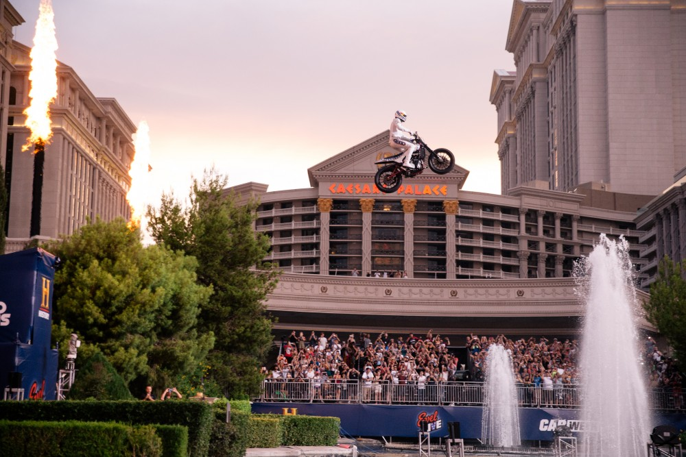 Pastrana Completes Evel Knievel Las Vegas Jumps