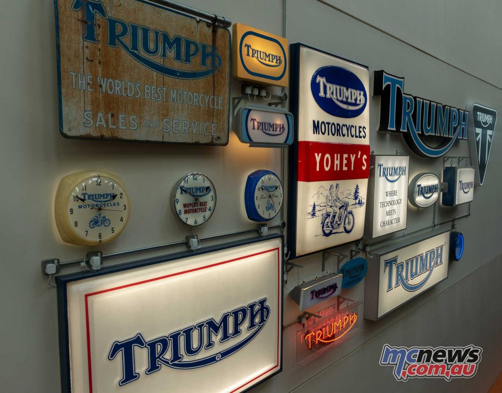 Triumph Factory Experience Signs