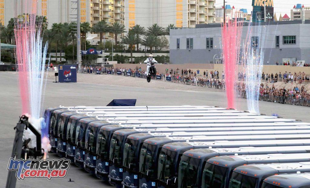 Evel Knievel Pastrana Vegas Bus