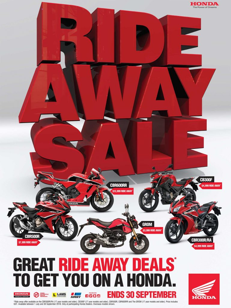 Honda Ride Away Sale