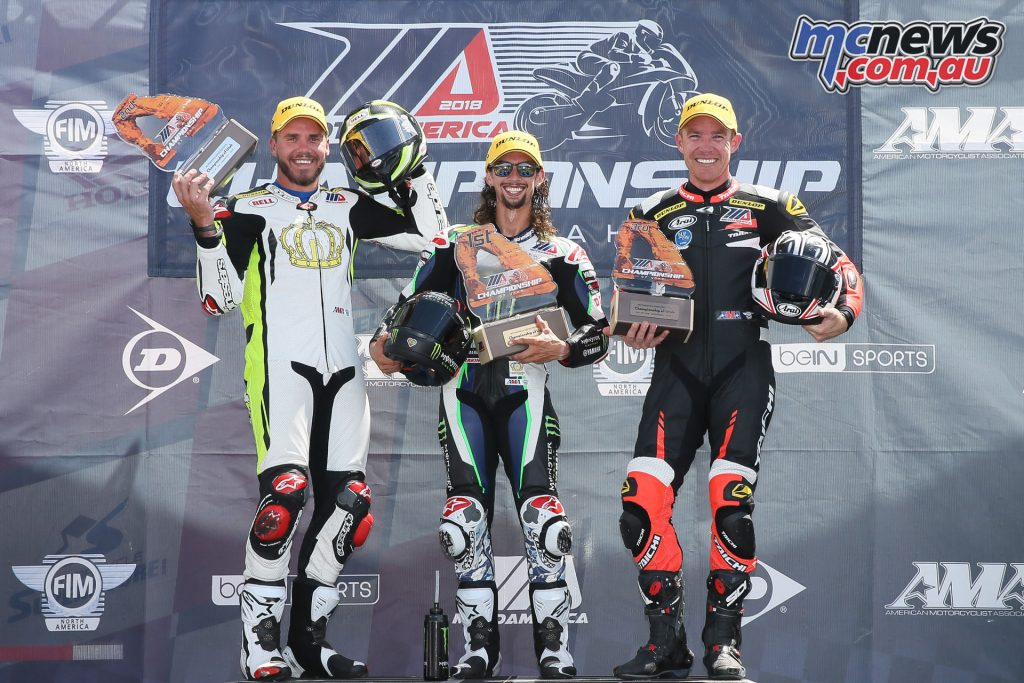 MotoAmerica Rnd Utah Supersport Podium Sat BJN