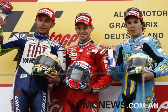 MotoGP Sachsenring Stoner Rossi Vermeulen