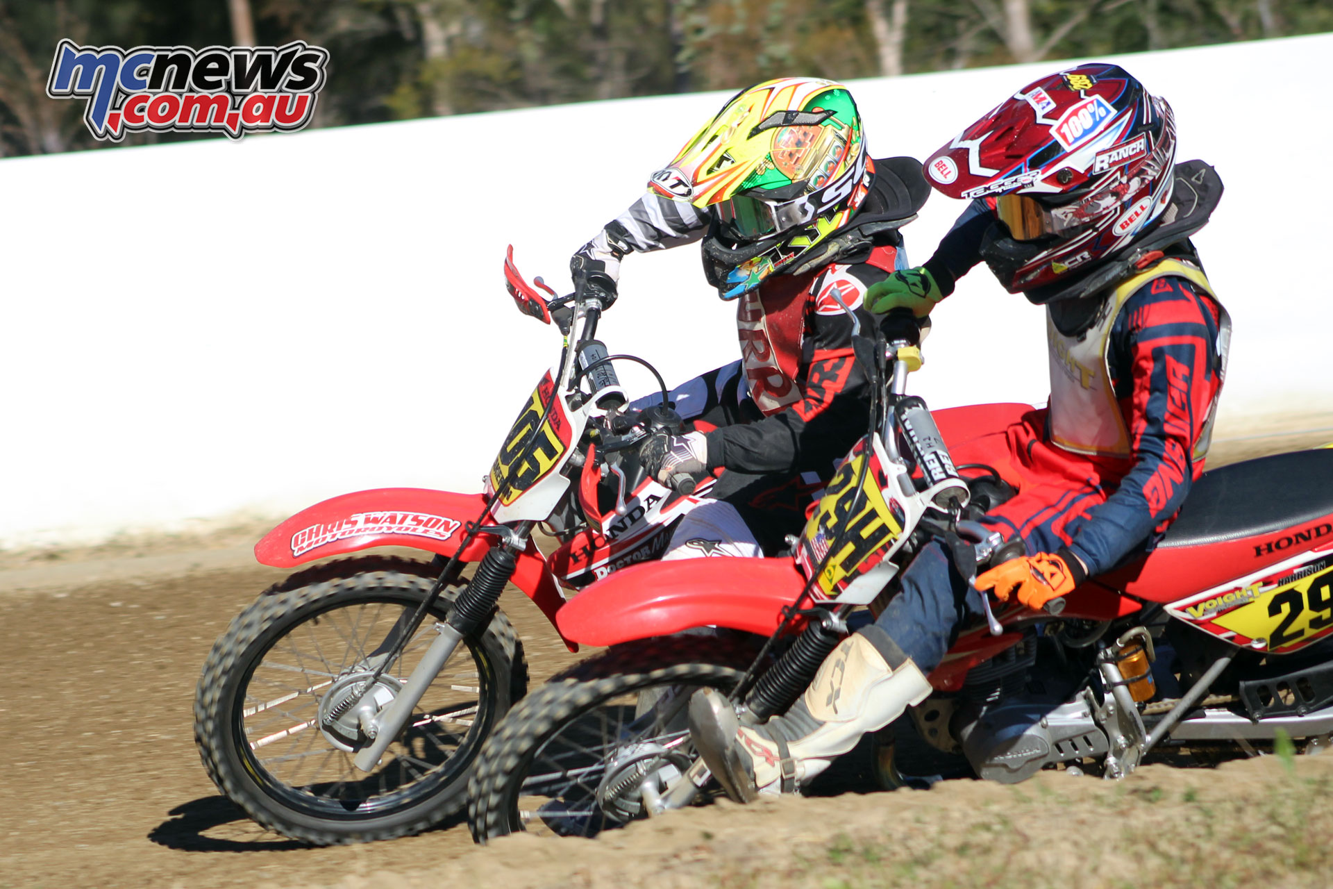 Australian Junior Dirt Track Championships Kurri Kurri Cameron Dunker Harrison Voight by Sheree Griffin