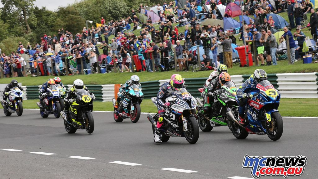 BSB CadwellPark Billy McConnell leads the pack away