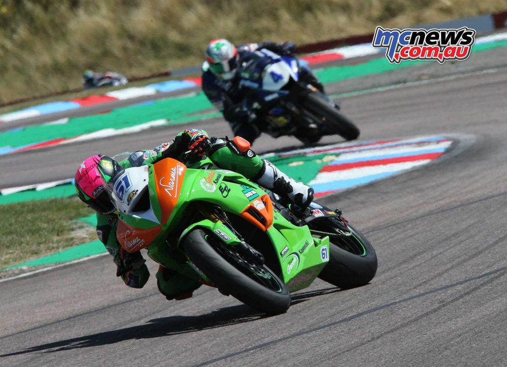 BSB Rnd Thruxton Ben Currie leads Kennedy Image DYeomans