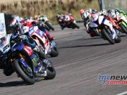 BSB Rnd Thruxton Josh Brookes leads Race Image DYeomans