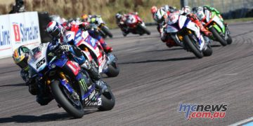 BSB Rnd Thruxton Josh Brookes leads Race Image DYeomans