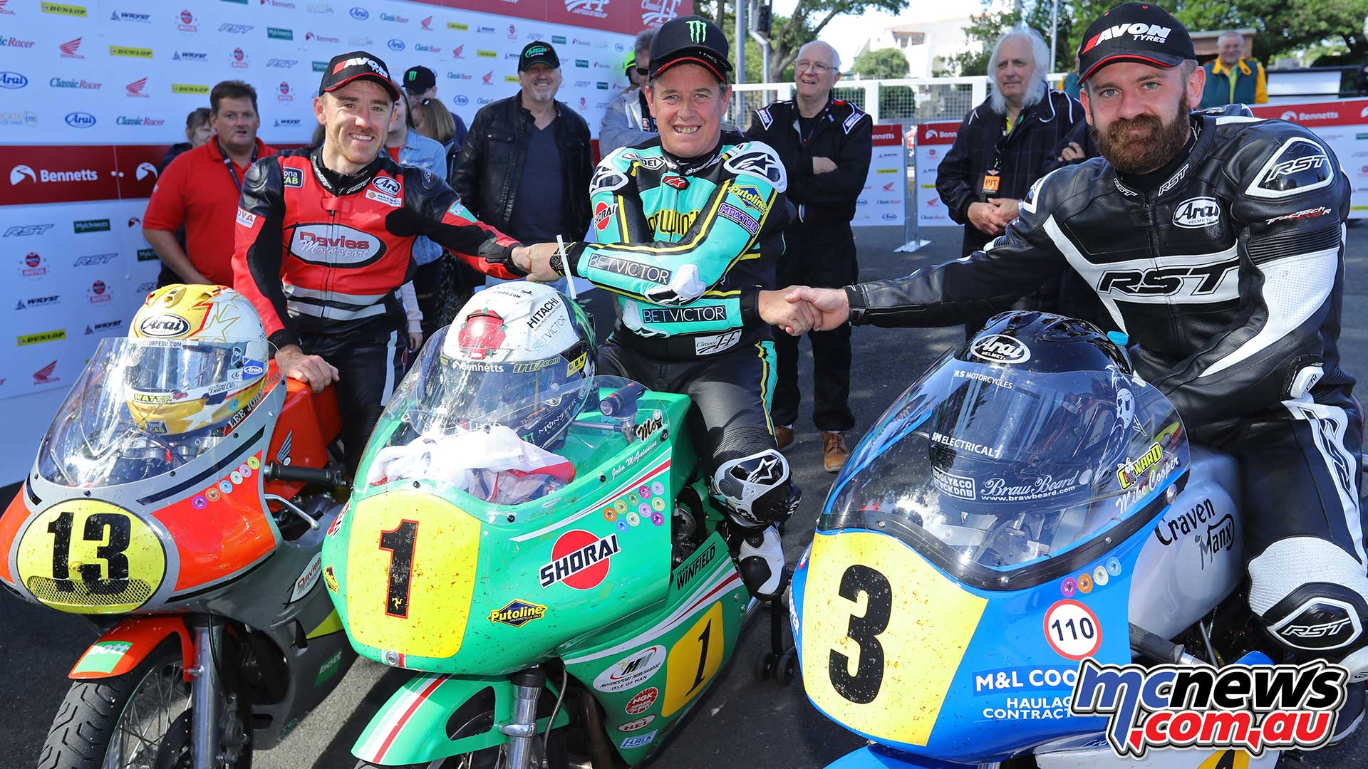 Classic TT Senior John McGuinness Jamie Coward Lee Johnston