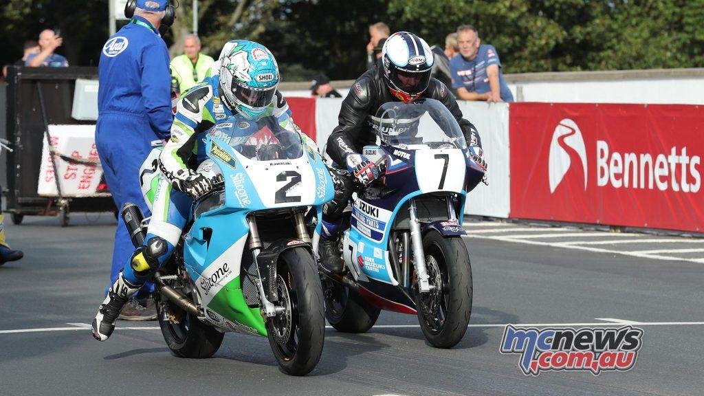 Classic TT Superbike Dean Harrison Gary Johnson Practice