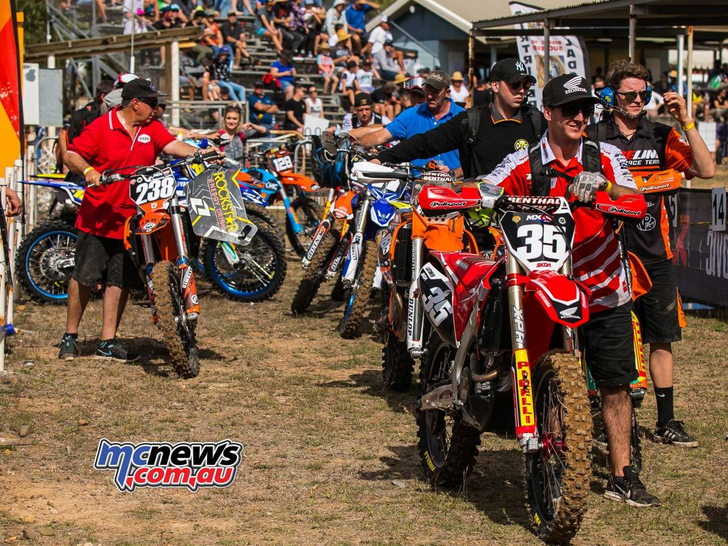 MX Nationals Rnd Gladstone moto mx walk out