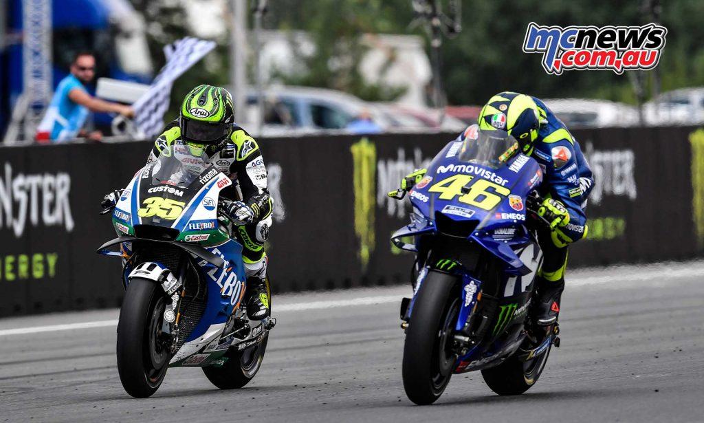 MotoGP Brno Rnd Crutchlow Rossi