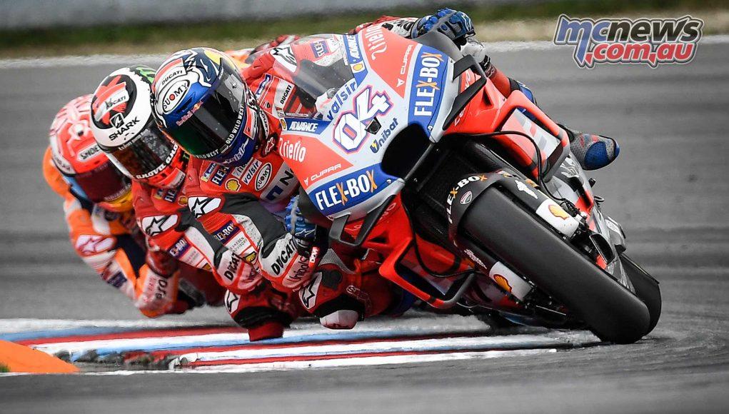 MotoGP Brno Rnd Dovizioso Lorenzo Marquez Tight