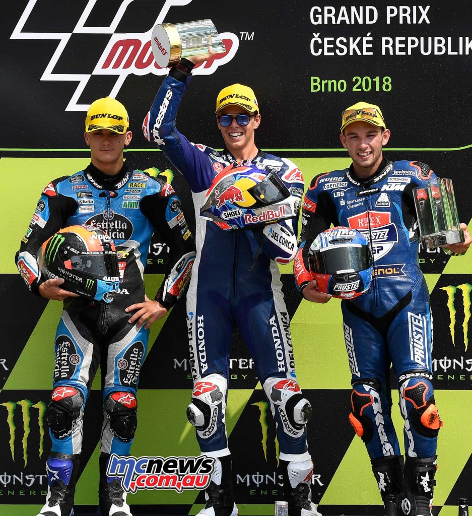 MotoGP Brno Rnd Moto Podium Fabio Di Giannantonio