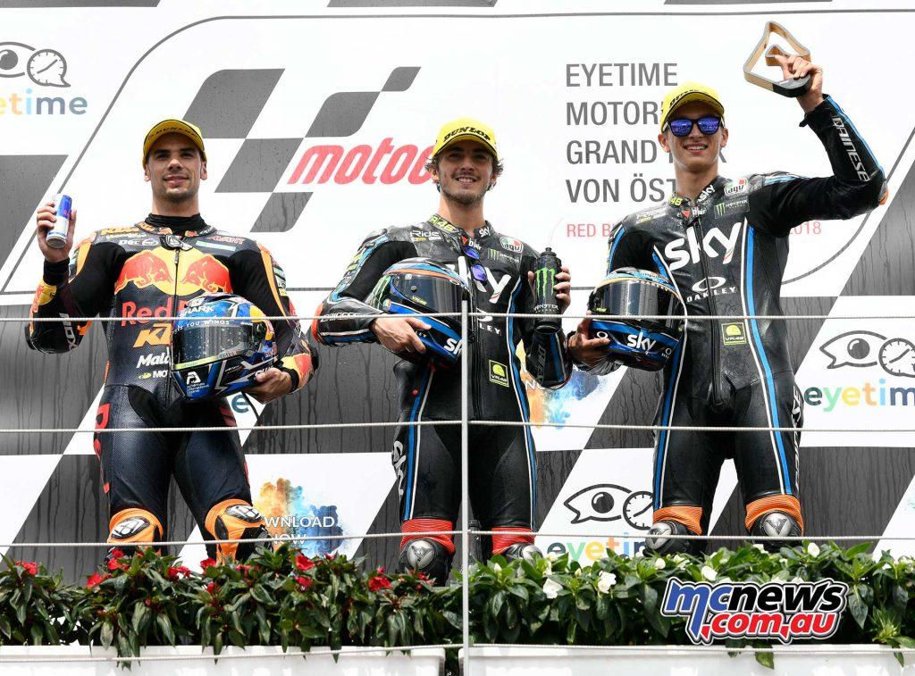 MotoGP Rnd Austria Moto Podium Francesco Bagnaia