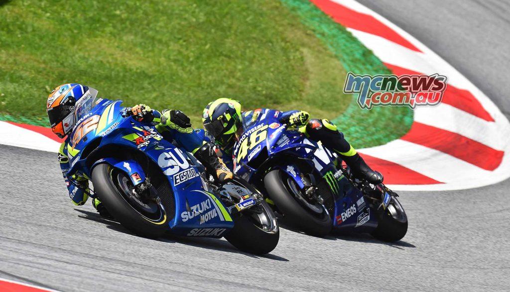 MotoGP Rnd Austria RaceMichelin Rins Rossi
