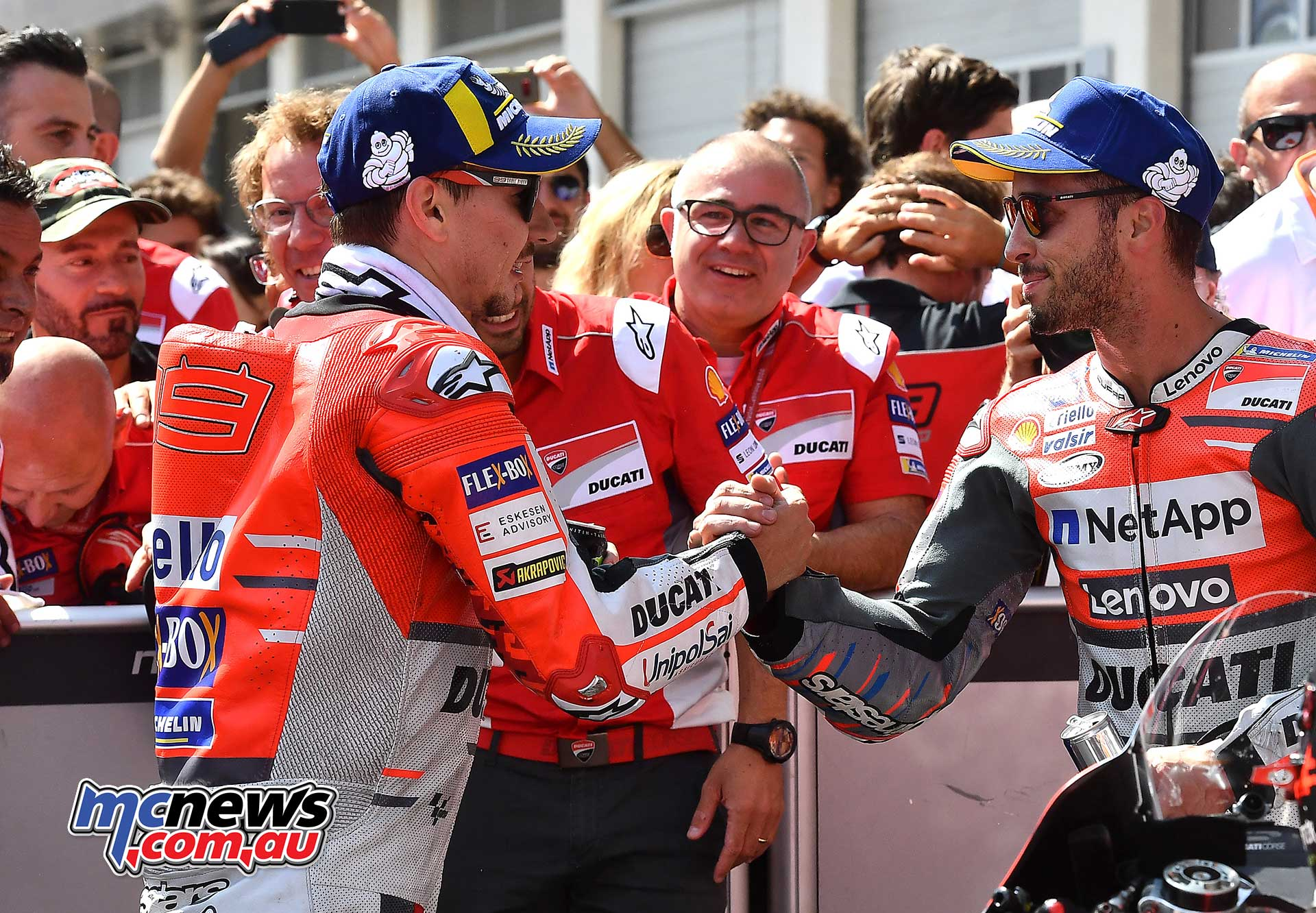 MotoGP Rnd Austria RaceMichelin Lorenzo Dovizioso