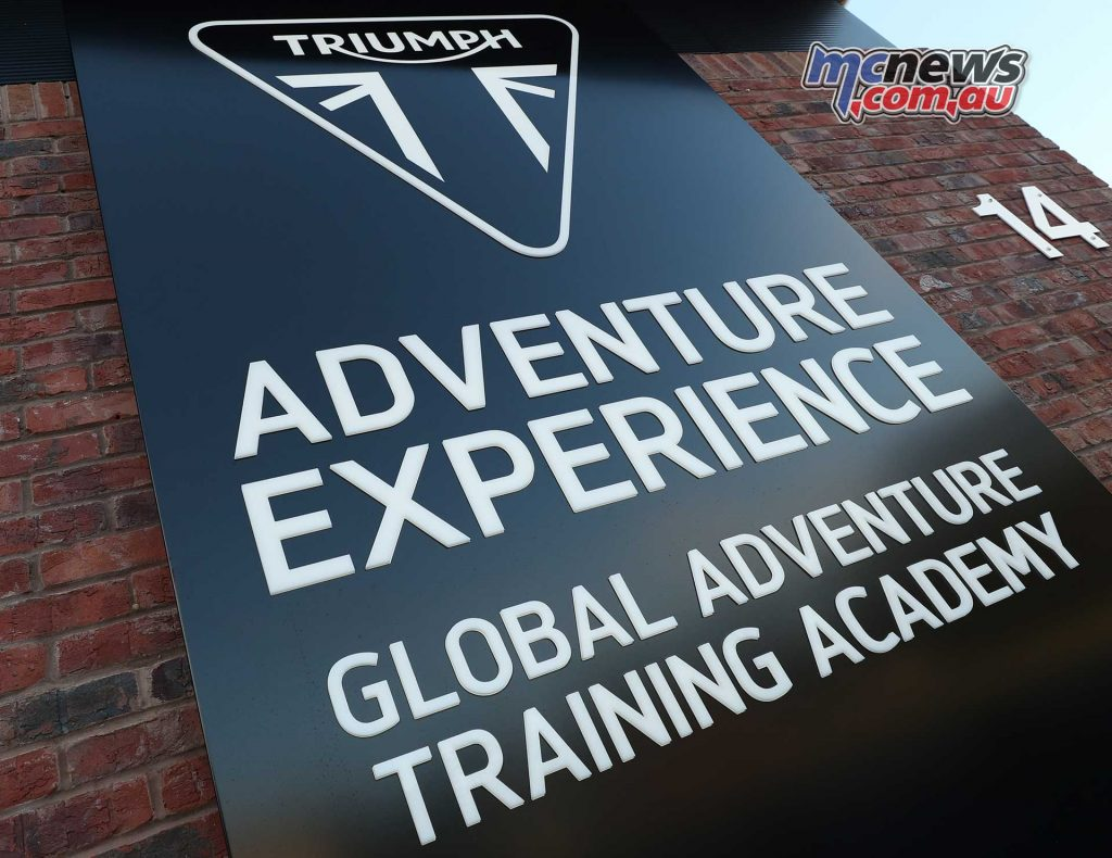 Triumph Adventure Experience Sign