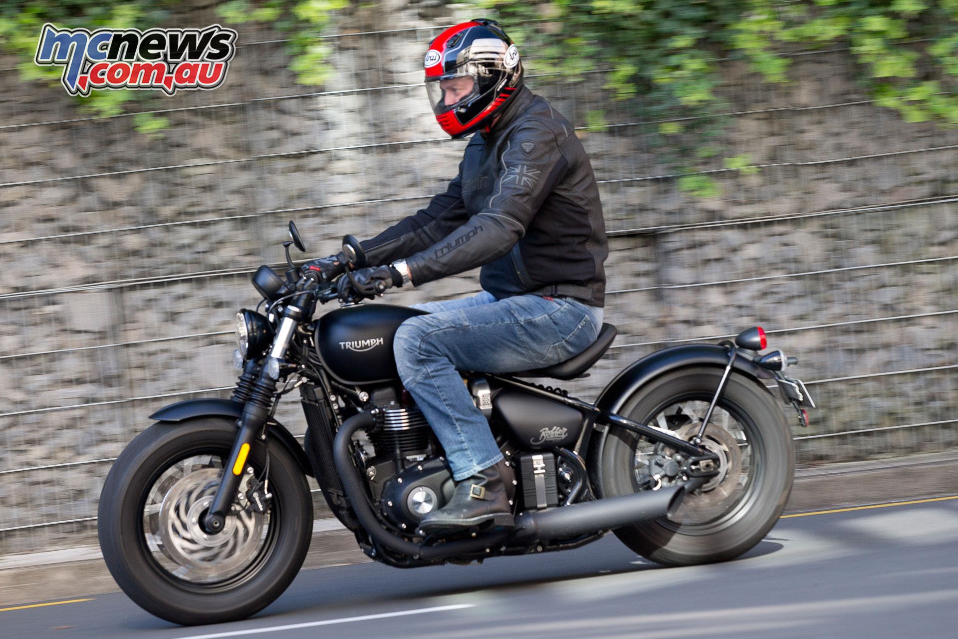 Triumph Bonneville Bobber Black Motorcycle Test Mcnews Com Au