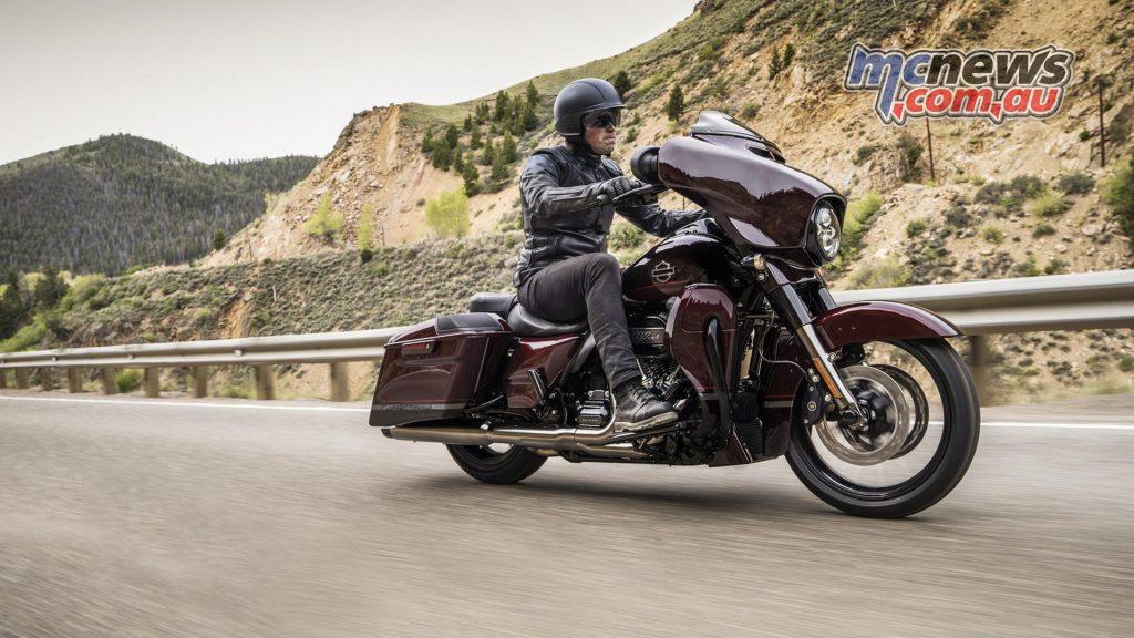 Harley Davidson CVO Touring Riding shot