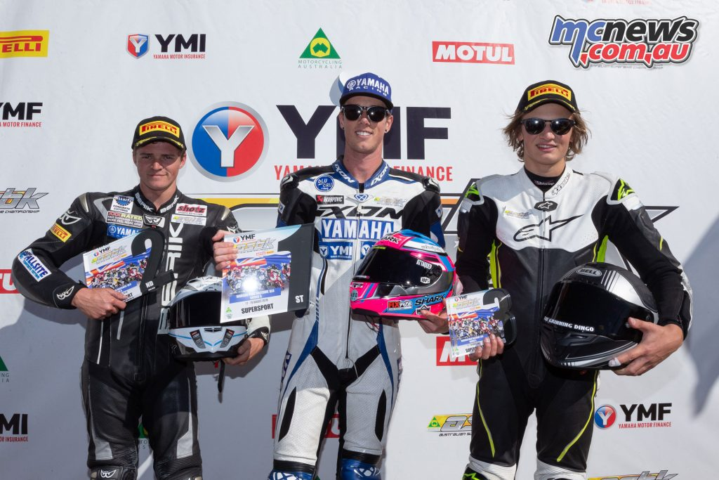 ASBK Morgan Park Rnd Supersport Podium