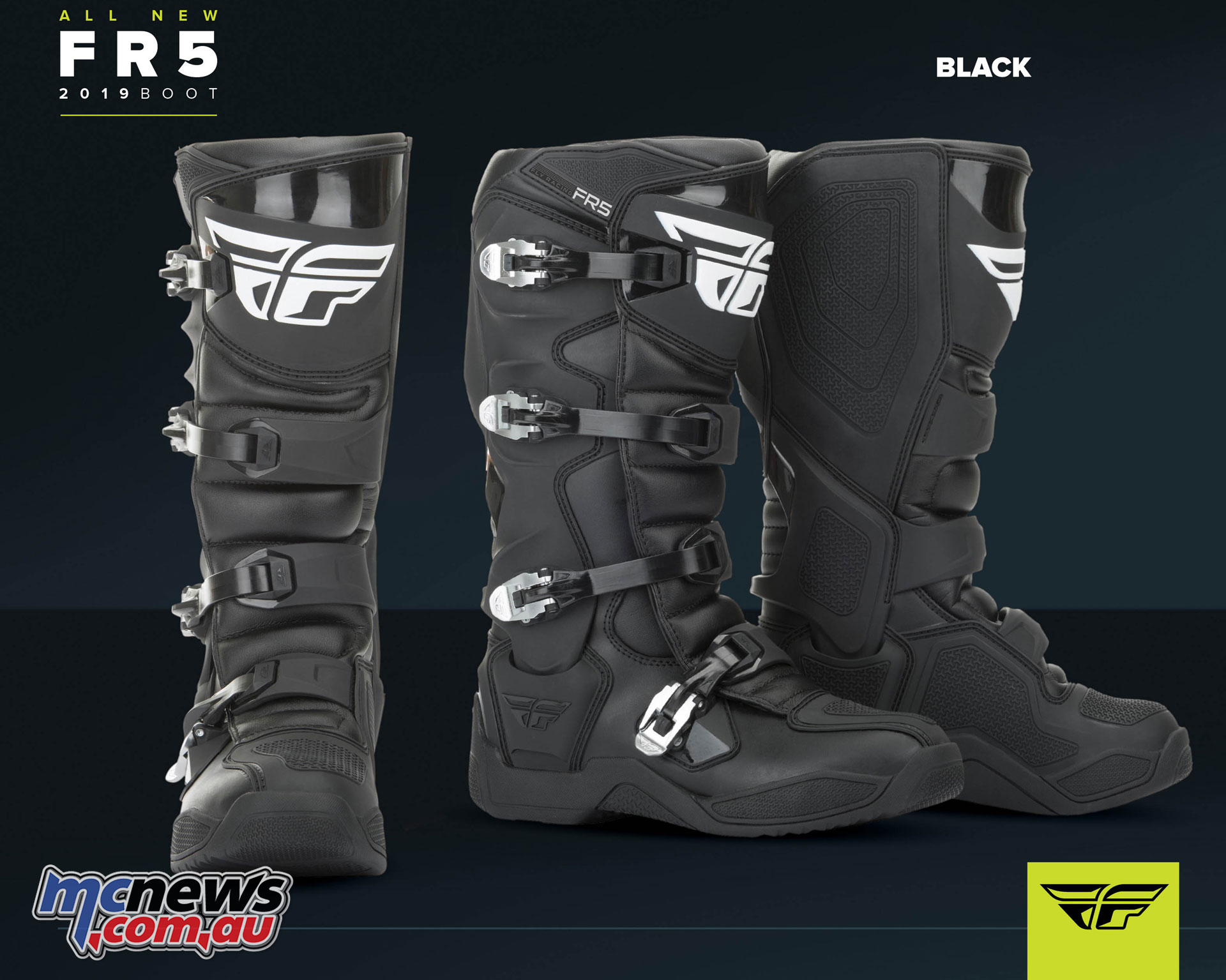 All new 2019 Fly Racing FR-5 Boots