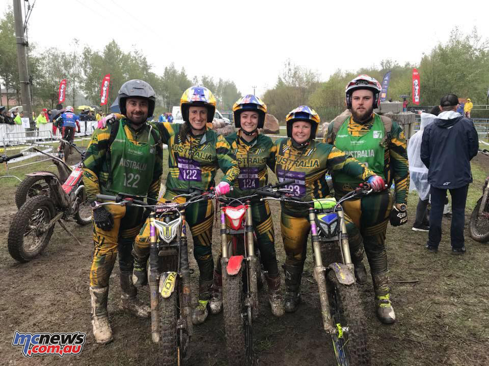 Australias female Trials Des Nations team