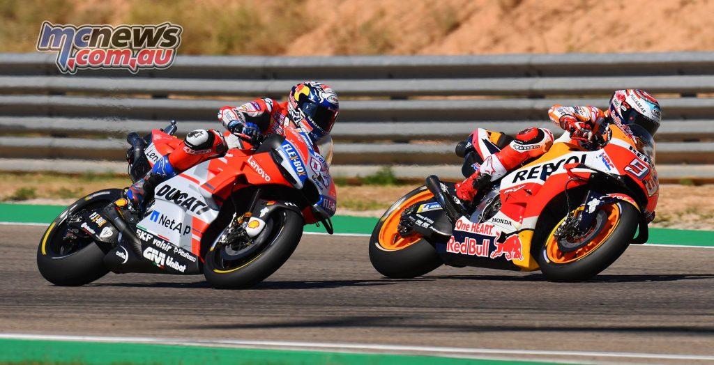 MotoGP Aragon Mich Marquez Dovizioso Tight