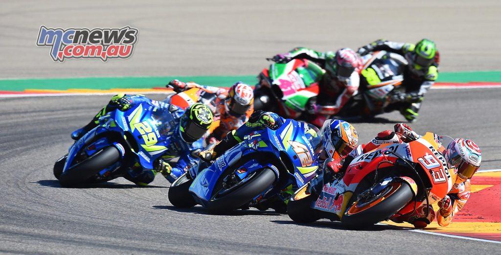MotoGP Aragon Mich Marquez Rins Iannone Pedrosa