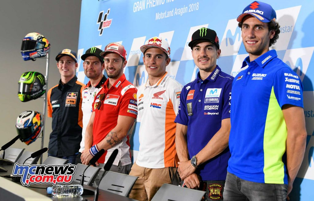 MotoGP Aragon Presser Riders