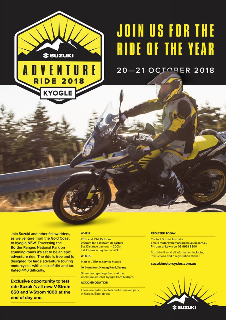 Suzuki Adventure Ride October