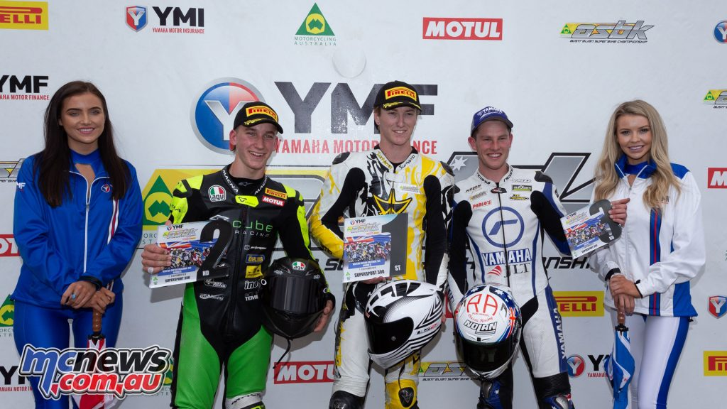 ASBK TBG Rnd Winton Supersport Podium
