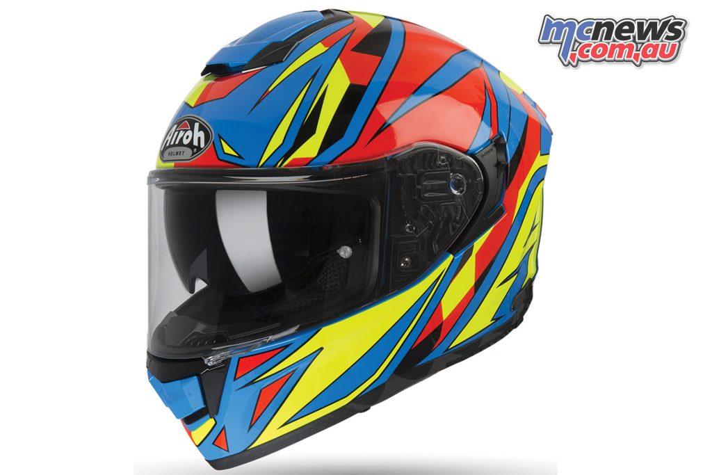 Airoh ST Helmet Thunder Blue Gloss Left Side Angle