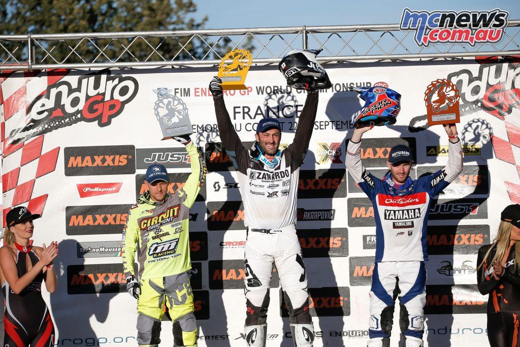 EnduroGP France Rnd podio e