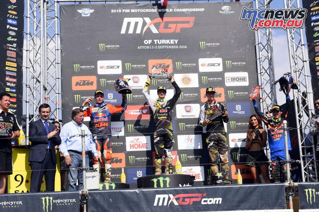 MXGP Rnd Afyon Turkey MX Covington podium
