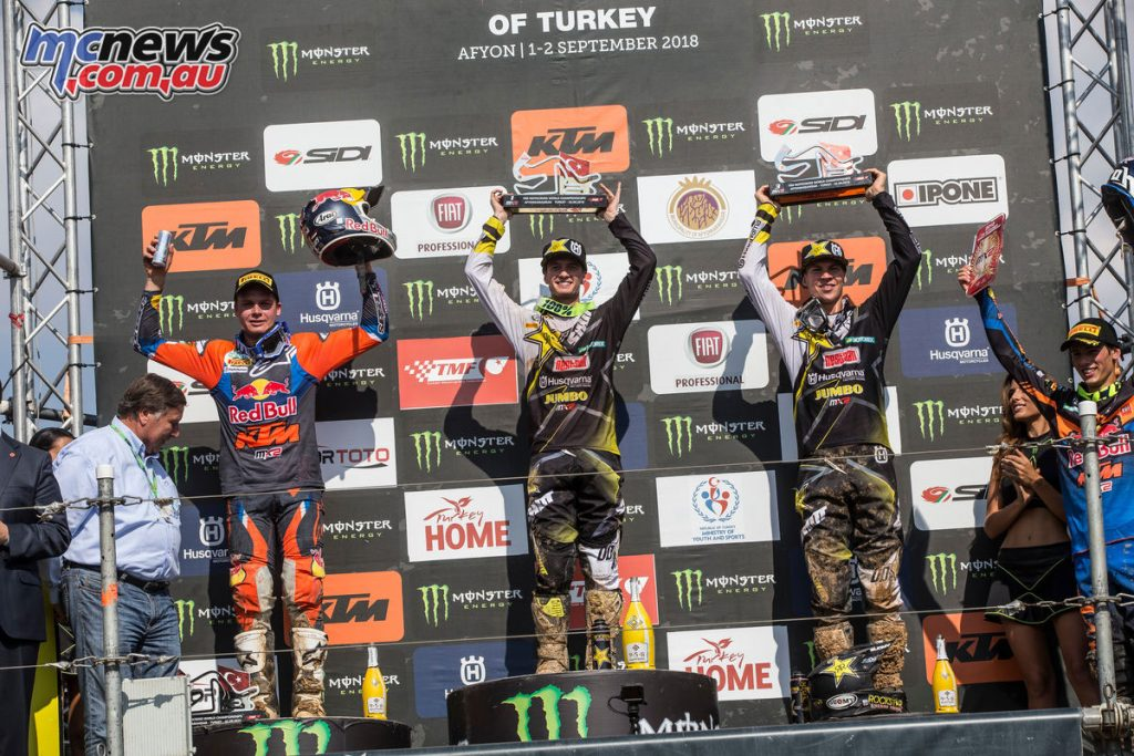 MXGP Rnd Afyon Turkey MX Overall Podium