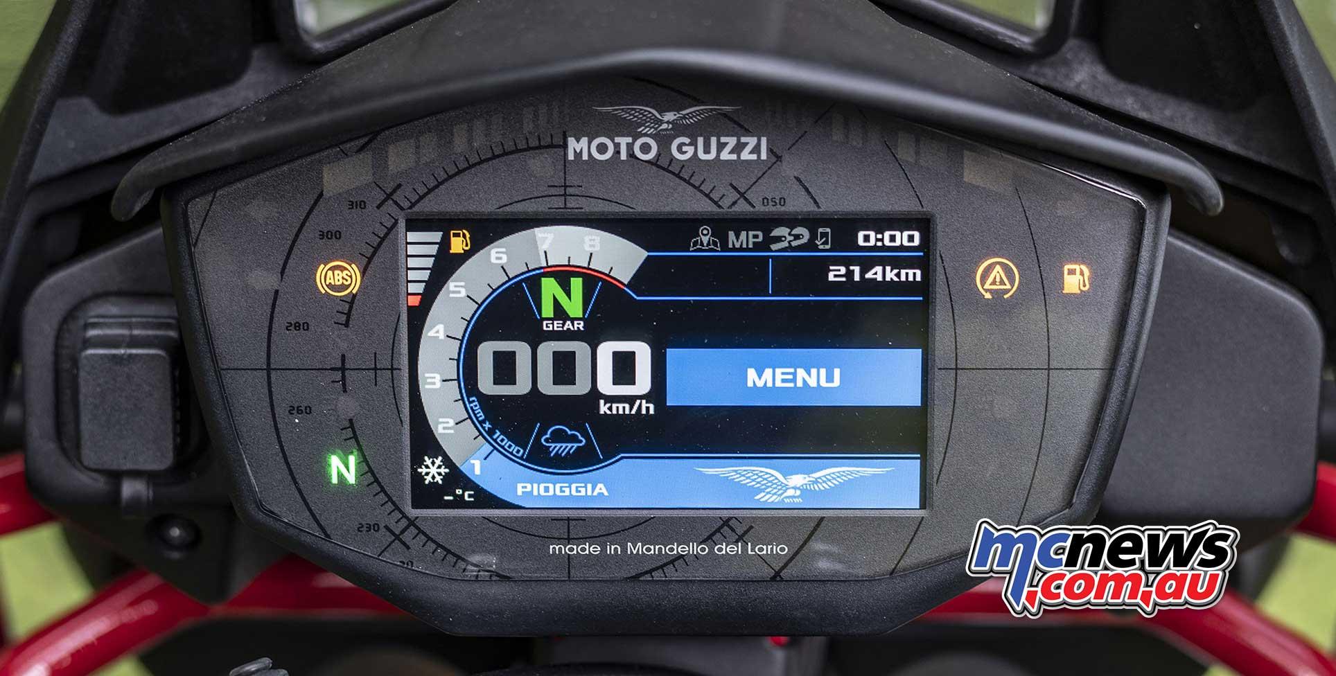 Moto Guzzi V TT Dash