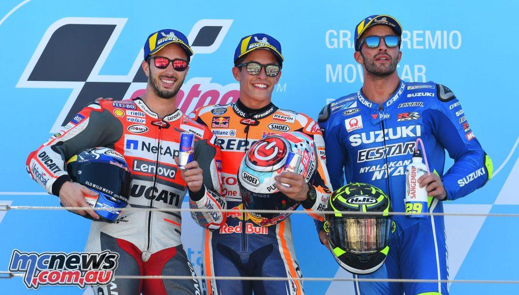 MotoGP Aragaon Rnd Podium