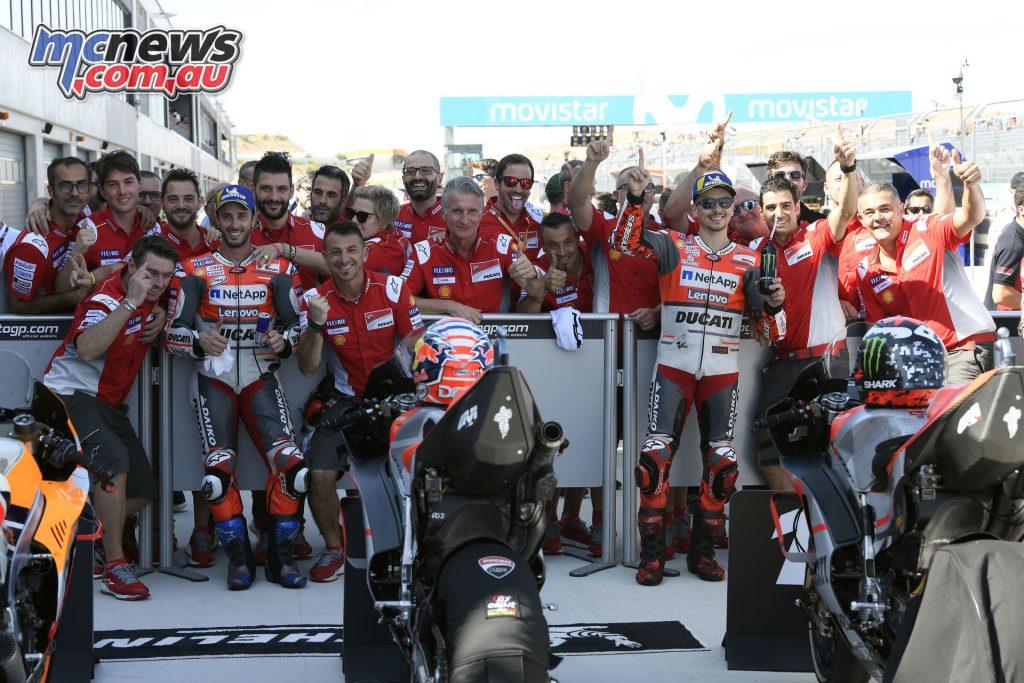 MotoGP Aragaon Rnd Sat Ducati Pole Front Row TIX UC High