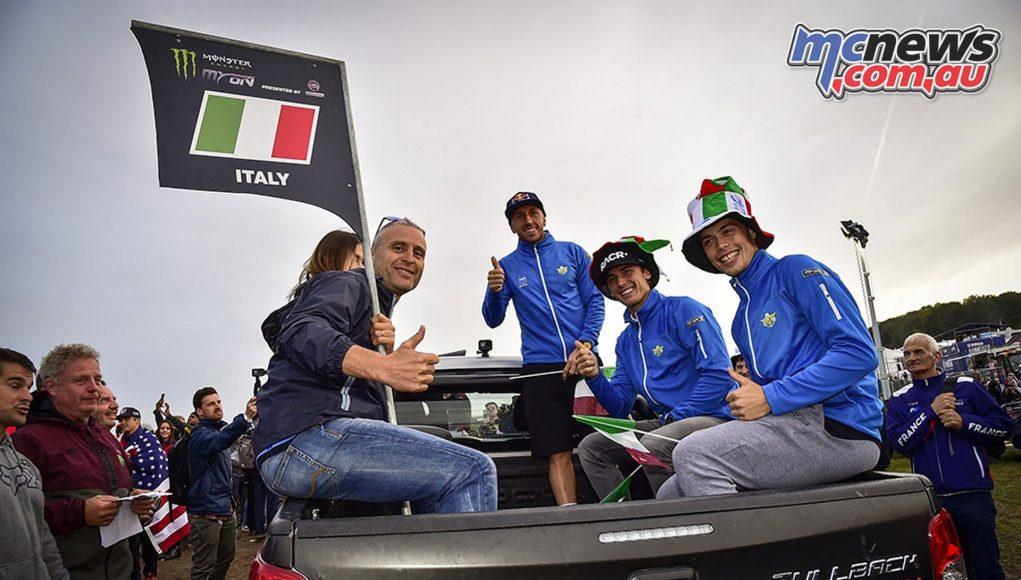 Team Italy Antonio Cairoli Michele Cervellin Alessandro Lupino
