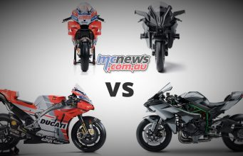 Kawasaki H2R vs Ducati MotoGP bike